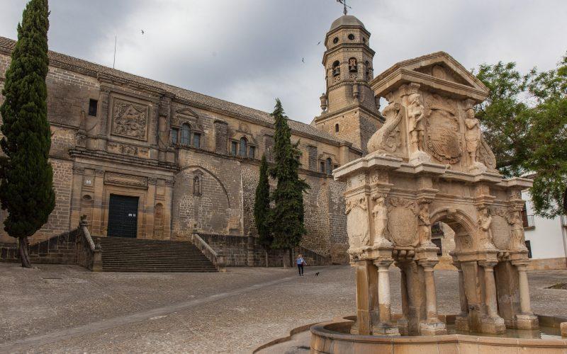 Catedral and Fuente Santa Maria, Baeza, Spain